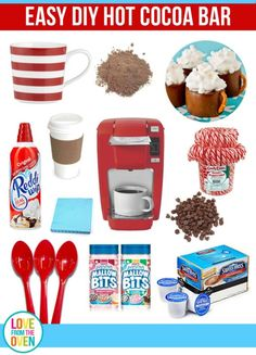 How To Set Up A Hot Cocoa Bar. So perfect for winter and holiday parties, or even just when friends and family drop by.