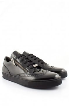 60c154b89aa Roberto Botticelli - 'Brogue' Shoes Black Pair Front (LU27461F) Mens  Designer Shoes