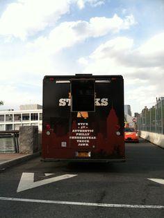Food trucks unloading on the Intrepid!