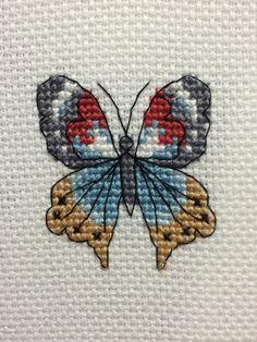 Butterfly cross stitch / etamin kanaviçe kelebek II