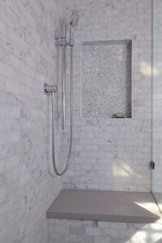 Carrera Marble Bathing Beauty - modern - bathroom - sacramento - Kerrie L. Kelly