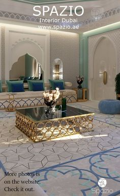 Moroccan style interior design for a arabian majlis Interior Design Dubai, Luxury Homes Interior, Interior Design Companies, Luxury Home Decor, Moroccan Home Decor, Moroccan Interiors, Moroccan Design, Moroccan Style, Living Room Decor Curtains