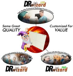 DR-wizard 14x17 cassette-size wireless flat panel, customized for your veterinary practice needs.