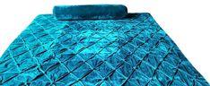 Teal Bedspread, Teal Comforter, Velvet Bedding Sets, Velvet Quilt, Green Quilt, Blue Quilts, Twin Quilt, Quilt Bedding, Bed Spreads