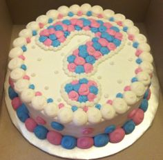 Baby Reveal Cake - Question Mark