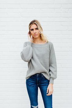 6c6c759e4f4a5 Out With The Girls Sweater - Dusty Mint