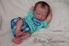 *SILVIACREATIONS* Realborn(R) Presley Asleep, Bountiful Baby Reborn -Prototype#2