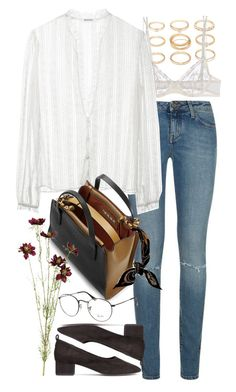 Untitled #9565 by nikka-phillips on Polyvore featuring polyvore, fashion, style, Rodarte, Yves Saint Laurent, La Perla, Marni, Forever 21, Hermès, OKA, Ray-Ban and clothing