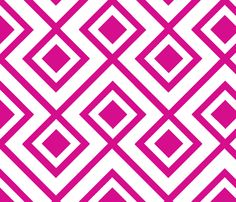 Connect the Blocks-Fuschia fabric by honey on Spoonflower - custom fabric