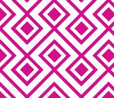 Connect the Blocks-Fuschia fabric by honey on Spoonflower - custom fabric