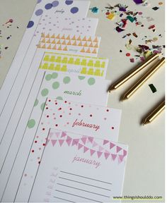 Free printable: THE PERPETUAL BIRTHDAY CALENDAR - list birthdays you want to remember and use year after year