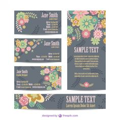 Floral mock-up corporate identity set Free Vector