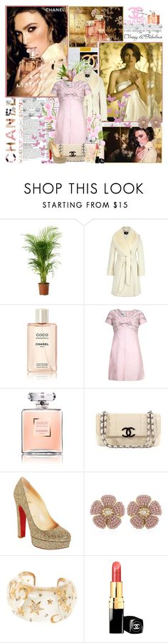 """""""Coco Chanel Mademoiselle by Chanel....."""" by purplecherryblossom ❤ liked on Polyvore featuring McGinn, Chanel, Priestley's Vintage, Christian Louboutin and Miriam Haskell"""