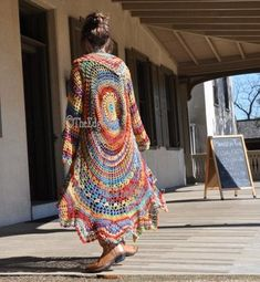 Circle Vest - Bohemian Vest - Gypsy that remains Sweater crochet pattern