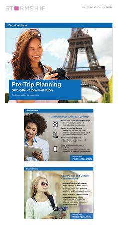 Presentation designed for insurance company Presentation Design, Trip Planning, Medical, Active Ingredient