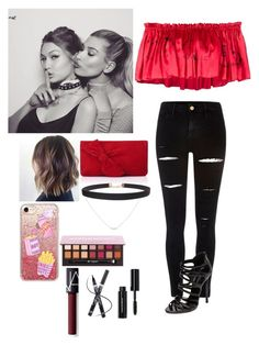 """Party with Gigi and hailey"" by joelene-garcia ❤ liked on Polyvore featuring Baldwin, Claire Barrow, River Island, Casadei, Accessorize, L.K.Bennett, Casetify, Humble Chic, NARS Cosmetics and Bobbi Brown Cosmetics"
