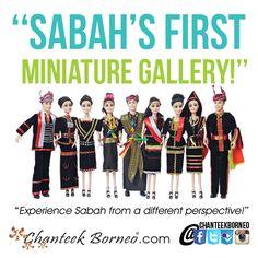 North Borneo ethnic costumes, miniature versions