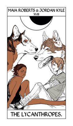 Maia Roberts & Jordan Kyle | Cassandra Jean Tarot Card | The Mortal Instruments