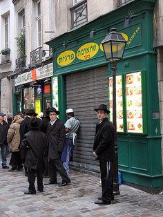 Before the Sabbath - Hasidic Boys on Rue des Rosiers, le Marais, Paris. With Cara Black in Murder in the Marais.