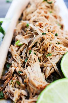 Slow Cooker Chili Lime Pulled Pork - A Dash of Sanity