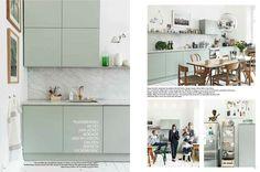 Elle Interiörs fantastiska styling av ett lindbloms grönt kök!
