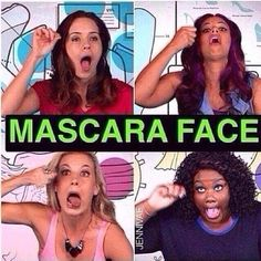 haha what's your mascara face??? mine is bottom right hand corner! lol
