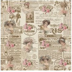 Vintage Newspaper and Roses