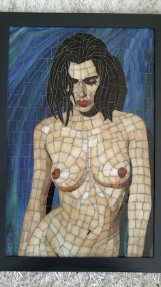 Islak nü 2. Mosaic. Glassmosaic.