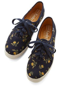 Grand Garden Gait Sneaker in Navy. Every outfit you complete with these navy Keds sneakers is as beautiful as a garden in full bloom! #blue #modcloth