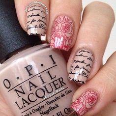 Romantic nails | See more nail designs at http://www.nailsss.com/nail-styles-2014/