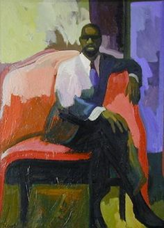 "James Weeks, ""Jazz Musician,"" Oil on canvas, 1960 Richard Diebenkorn, Wayne Thiebaud, David Park, Figure Painting, Painting & Drawing, Famous Black Artists, Bay Area Figurative Movement, Abstract Painters, Portrait Art"