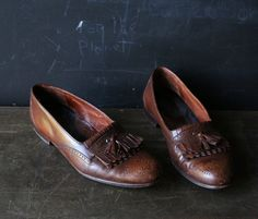 Please Reserve Mens Shoes Italian Leather Slip On Vintage Holiday Fashion from Nowvintage on Etsy