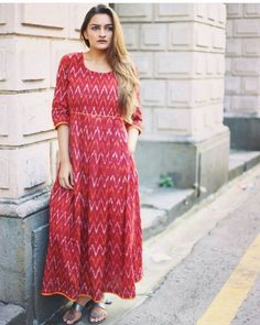 Maroon Ikat Maxi...Mumbai based..Delivery all over India and outside India.For details and bookings pls contact on 7400497020..FB link-https://www.facebook.com/Miar-Designs-1039717622785710/