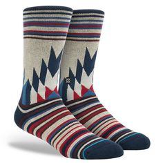 Patriotic flair meets Midwestern style in these cool Stance socks with this awesome combination of colors and patterns. Made of premium combed cotton, these unique socks feature breathable mesh vents,