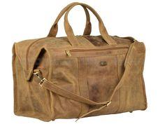 Harold's Antico - Leder Reisetasche Sporttasche Weekender- antikbraun 77703