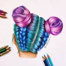 Image result for hair drawing