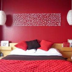 Deco chambre a coucher on pinterest deco chambre palette deco and tete de - Chambre a coucher rouge ...