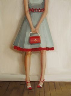 She Liked to Rustle Her Red Crinoline                ~ Janet Hill