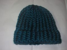 Knit Baby Hat: teal