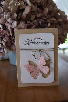 Carterie défi n°3 du 8 octobre : Contrainte et Combo Punch Art Cards, Karten Diy, Bee Cards, Cricut Cards, Get Well Cards, Butterfly Cards, Card Sketches, Happy Birthday Cards, Anniversary Cards