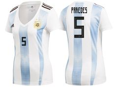 8d7c83c6b Argentina 2018 World Cup Home Women Jersey leandro paredes Soccer Jerseys