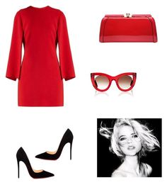 """""""Red Dress❤"""" by star-kwt ❤ liked on Polyvore featuring Givenchy, Christian Louboutin, MKF Collection and Thierry Lasry"""