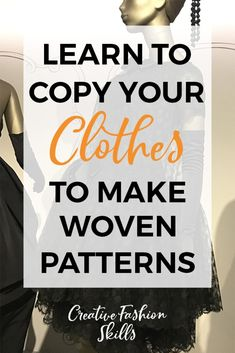 sewing techniques advanced Want to copy your favourite clothes? Learn how to make a sewing pattern using a woven garment from your closet! Easy Sewing Projects, Sewing Projects For Beginners, Sewing Hacks, Sewing Tutorials, Sewing Tips, Sewing Ideas, Dress Tutorials, Sewing Lessons, Crochet Projects