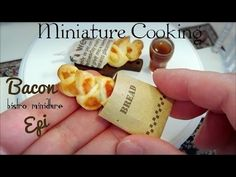 Mini food #63 ミニチュア料理 『Bacon Epi ベーコンエピ』 Edible Tiny Food Tiny Kitchen Miniature Cooking - YouTube