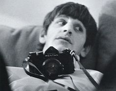 Ringo Starr with a Asahi Pentax S3 camera.