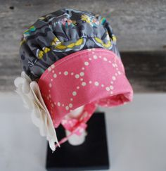 Custom Garden Bonnet reversible baby bonnet modern sunbonnet Baby Car Seats, Etsy Seller, Cap, Unique, Garden, Fabric, Modern, Baseball Hat, Tejido