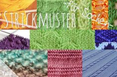 Knitting patterns for socks: 10 free patterns – Talu.de – Knitting Models and Suggestions Easy Knitting, Knitting Stitches, Knitting Needles, Knitting Patterns, Big Knit Blanket, Big Knits, Knit Pillow, Sock Yarn, Knitted Bags