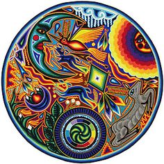 Huichol Yarn Painting .. I don't have THIS one but I have 3 others that I love!