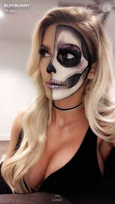 Halloween-Make-up-Ideen - Halloween - Maquillage Halloween Clown, Cute Halloween Makeup, Halloween Inspo, Cute Halloween Costumes, Halloween Kostüm, Skull Makeup, Halloween Disfraces, Carnival Costumes, Costume Makeup