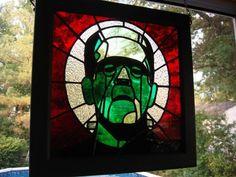 Frankenstein Stained Glass Window